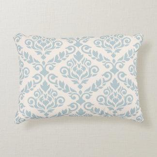 Prima Damask Large Ptn Blue on Cream Decorative Pillow