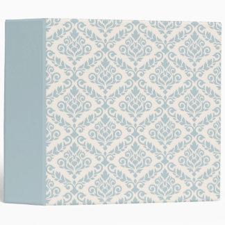 Prima Damask Pattern Blue on Cream Binder