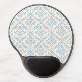 Prima Damask Pattern Blue on Cream Gel Mouse Pad