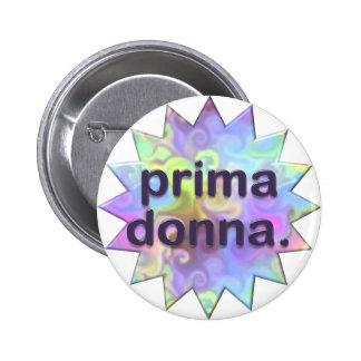 Prima Donna 2 Inch Round Button