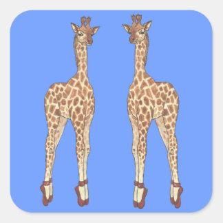 Prima Donna Giraffe Square Stickers