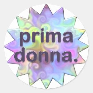 Prima Donna Round Sticker