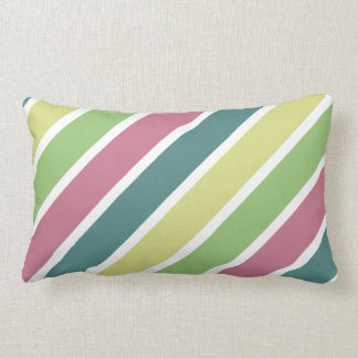 Primarily Stripes Cushion, Diagonal Lumbar Pillow