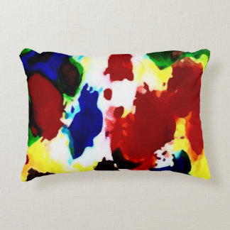 Primary Abstract Colors Pillow