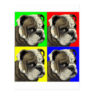 Primary Bulldog Postcard