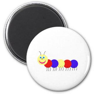 primary caterpillar 2 inch round magnet