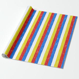 Primary Color Crayon Stripes