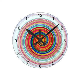 Primary Color Swirls Clock