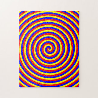 Primary Colors. Bright and Colorful Spiral. Puzzles