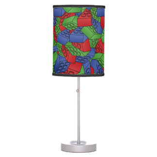 Primary Colors Building Blocks Pattern Table Lamp