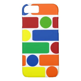 Primary Colors Geometric Shapes iPhone 7 Case
