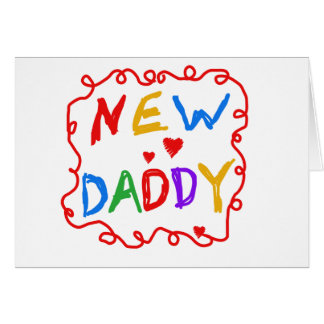 Primary Colors New Daddy Tshirts and Gifts Card
