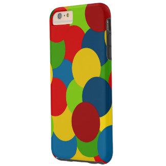 Primary Colors Plus Circles Tough iPhone 6 Plus Case