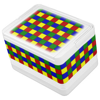 Primary Colors Squares,Beveled-12 Can Igloo Cooler