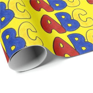 Primary Colors Yellow ABC Alphabet Teacher Wrap