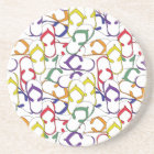 Primary Colour Flip Flop Pattern flipflops summer Coaster