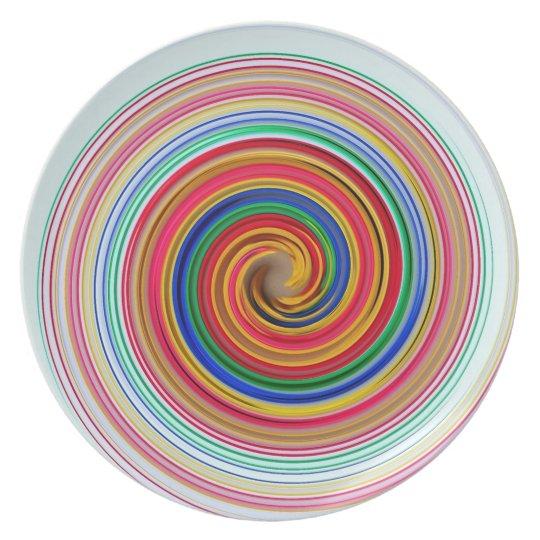 Primary Colour Swirls Plate