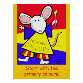 Primary Colours Mouse by Vera Trembach Poster