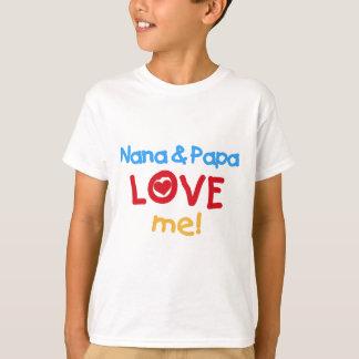 Primary Colours Nana and Papa Love Me T-Shirt