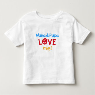 Primary Colours Nana and Papa Love Me Toddler T-shirt