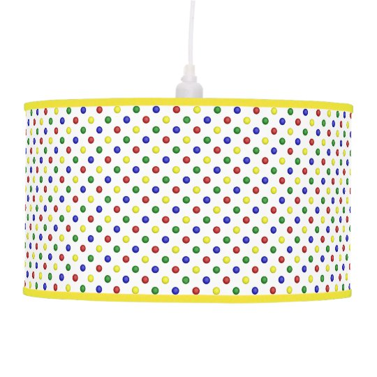 Primary Colours Polka Dots Transp-Pendant Lamp 2