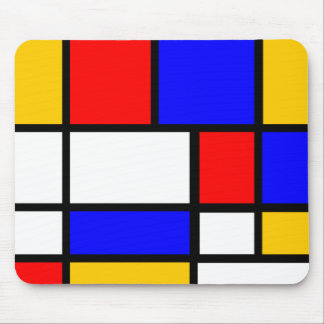 Primary education colors Mondrian style Mouse Pad