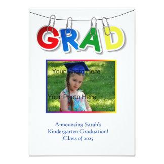 Primary Grad Text Photo Card