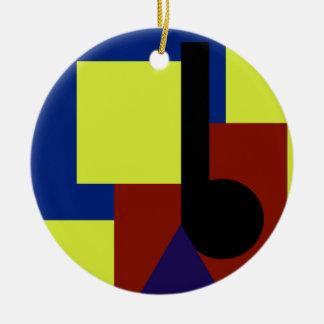 Primary Key Round Ceramic Ornament