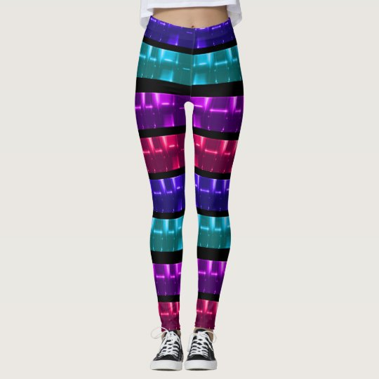 Primary Multi-Colour Performance Style Leggings