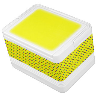 Primary Polka Dots, Yellow-12 Can Igloo Cooler