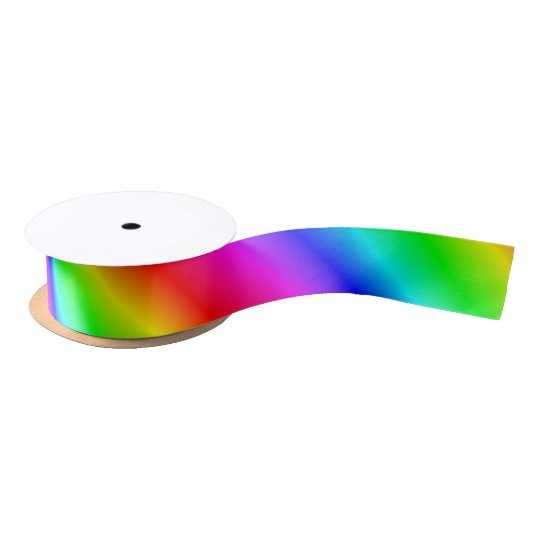 Primary Rainbow Gradient Satin Ribbon
