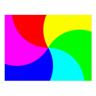 Primary Rainbow Spiral Postcard