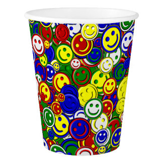Primary Smiley Face Beads,GREEN-PAPER CUPS Paper Cup