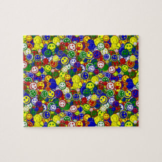 Primary Smiley Face Beads,YELLOW-JIGSAW PUZZLE
