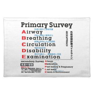 Primary Survey english japanese Place Mat