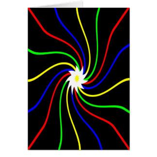 Primary Swirls Birthday Card