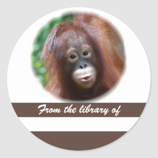 Primate Lover Book Sticker