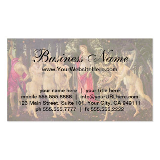 Primavera by Botticelli, Antique Renaissance Art Business Card