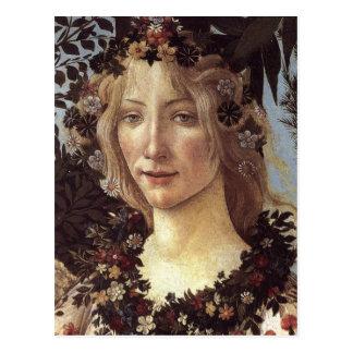 Primavera (detail - Flora, Goddess of Spring) Postcard