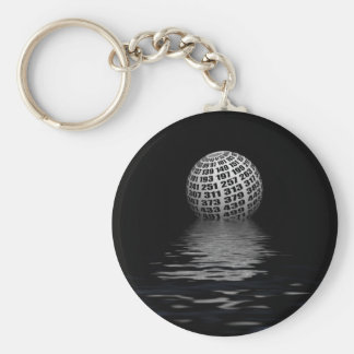 Prime number planet keychain