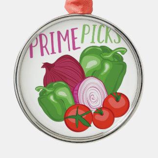 Prime Picks Silver-Colored Round Ornament