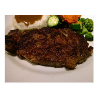 Prime Rib Steak Dinner Postcard