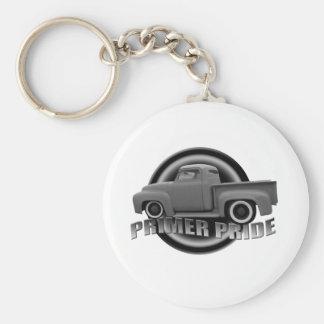 Primer Pride Basic Round Button Keychain