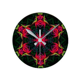 Primeval Paradise Round Clock