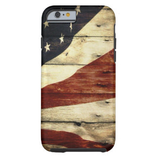 Primitive barn wood American Flag Americana Tough iPhone 6 Case