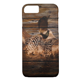 Primitive Barn wood Western Country waterfowl Loon iPhone 8/7 Case
