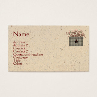 Primitive Basket Business Card