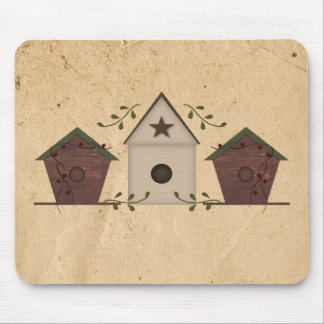 Primitive Birdhouses Mousepad