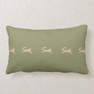 Primitive Bunny Olive Green Lumbar Pillow