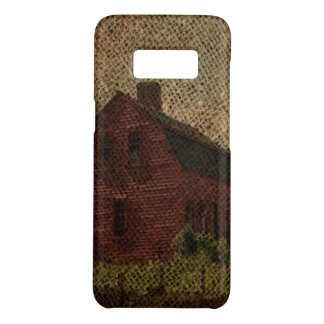 Primitive burlap country farmhouse red barn Case-Mate samsung galaxy s8 case